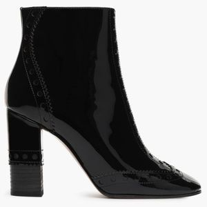 Chloe patent leather ankle boots